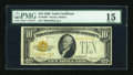 Small Size:Gold Certificates, Fr. 2400* $10 1928 Gold Certificate Star Note. PMG Choice Fine 15.. ...