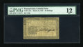Colonial Notes:Pennsylvania, Pennsylvania March 16, 1785 20s PMG Fine 12....