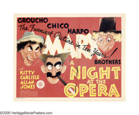 """A Night at the Opera (MGM, 1935). Title Lobby Card (11"""" X 14""""). """"And now, on with the opera. Let joy be u..."""