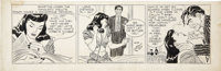 Alex Raymond Rip Kirby Daily Comic Strip Featuring Pagan Lee and the Mangler Original Art, dated 8-30-46 (King Fea