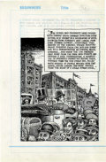 Original Comic Art:Splash Pages, Robert Crumb Kafka for Beginners page 168 Original Art (IconBooks, 1993).. ...