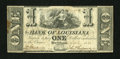Obsoletes By State:Louisiana, New Orleans, LA- Bank of Louisiana $1 Sep. 19, 1861. ...
