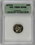 Proof Roosevelt Dimes: , 1970-S 10C PR69 Deep Cameo ICG. NGC Census: (28/0). PCGS Population(168/0). Numismedia Wsl. Price for NGC/PCGS coin in PR...