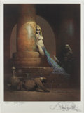 Original Comic Art:Sketches, Frank Frazetta The Egyptian Queen Signed/Remarqued Print#56/500 (undated)....