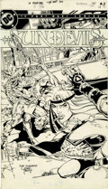 Original Comic Art:Covers, Dan Jurgens and Romeo Tanghal Sun Devils #5 Cover OriginalArt (DC, 1984)....