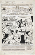 Original Comic Art:Splash Pages, Ramona Fradon and Bob Smith Super Friends #9 Splash Page 1Original Art (DC, 1977)....