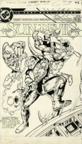 Original Comic Art:Covers, Dan Jurgens and Dick Giordano Sun Devils #8 Cover OriginalArt (DC, 1985)....