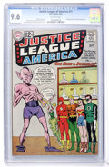 Silver Age (1956-1969):Superhero, Justice League of America #11 (DC, 1962) CGC NM+ 9.6 Off-whitepages....
