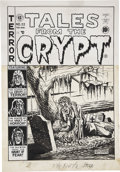 Original Comic Art:Covers, Al Feldstein Tales from the Crypt #22 Cover Original Art(EC, 1951)....