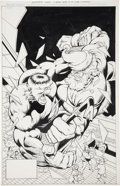 Original Comic Art:Covers, Bill Jaaska and Bob McLeod Incredible Hulk #378 CoverOriginal Art (Marvel, 1991)....