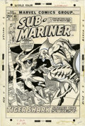 Original Comic Art:Covers, Gil Kane, Frank Giacoia, and Mike Esposito Sub-Mariner #45Cover Original Art (Marvel, 1972)....