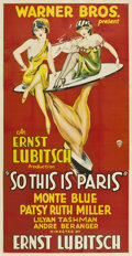 "Movie Posters:Comedy, So This is Paris (Warner Brothers, 1926). Three Sheet (41"" X81"")...."