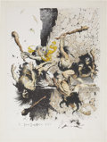 Original Comic Art:Miscellaneous, Frank Frazetta Buck Rogers Hand Colored, Limited EditionPrint #1/2, Remarqued With an Original Nude Sketc...