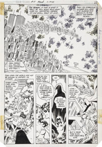 George Perez and Romeo Tanghal New Teen Titans #17 page 20 Original Art (DC, 1982)