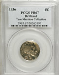 Proof Buffalo Nickels, 1936 5C Type Two Brilliant Finish PR67 PCGS. Tom MershonCollection. PCGS Population (111/6). NGC Census: (92/14). Mint...