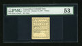 Colonial Notes:Connecticut, Connecticut October 11, 1777 7d on scarce White Paper PMG About Uncirculated 53....