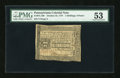 Colonial Notes:Pennsylvania, Pennsylvania October 25, 1775 2s/6d PMG About Uncirculated 53....