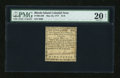 Colonial Notes:Rhode Island, Rhode Island May 22, 1777 $1/8 PMG Net Very Fine 20....