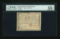 Colonial Notes:Rhode Island, Rhode Island July 2, 1780 $7 Fully Signed PMG About Uncirculated 55EPQ....