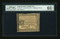Colonial Notes:Pennsylvania, Pennsylvania October 25, 1775 2s/6d PMG Choice Uncirculated 64EPQ....