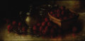 Fine Art - Painting, American:Antique  (Pre 1900), JOSEPH H. DILLE (American, 1832-1918). Still Life withStrawberries. Oil on canvas. 9 x 18 inches (22.9 x 45.7 cm).Sign...