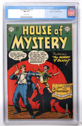 Golden Age (1938-1955):Horror, House of Mystery #3 Mile High pedigree (DC, 1952) CGC NM- 9.2Off-white pages....