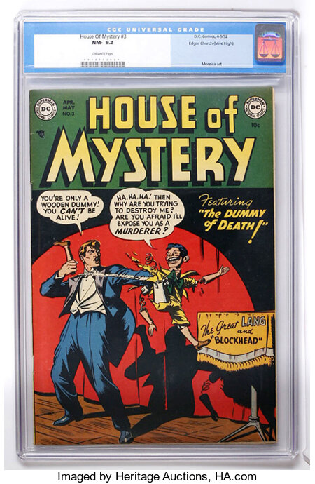 House of Mystery #3 Mile High pedigree (DC, 1952) CGC NM- 9.2 Off-white pages....