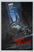 Memorabilia:Poster, Escape From New York Movie Poster (Avco Embassy, 1981)....