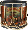 Military & Patriotic:Civil War, Great Civil War Paint Decorated New York State Infantry Snare Drum with Gettysburg Association. The drum was fully restored ...