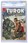 Silver Age (1956-1969):Adventure, Turok #3 (Dell, 1956) CGC NM+ 9.6 Off-white to white pages....