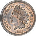 Patterns, 1858 P1C Indian Cent, Judd-210, Pollock-260, R.8, PR64 Red andBrown NGC....