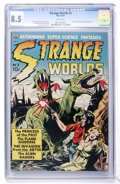 Golden Age (1938-1955):Science Fiction, Strange Worlds #3 (Avon, 1951) CGC VF+ 8.5 White pages....