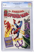 Silver Age (1956-1969):Superhero, The Amazing Spider-Man #21 (Marvel, 1965) CGC NM 9.4 Off-white towhite pages....