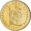 Early Eagles, 1795 $10 13 Leaves AU55 NGC....