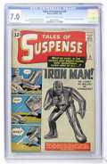 Silver Age (1956-1969):Superhero, Tales of Suspense #39 Iron Man (Marvel, 1963) CGC FN/VF 7.0 Creamto off-white pages....