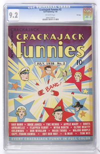 Crackajack Funnies #2 File Copy (Dell, 1938) CGC NM- 9.2 Off-white pages