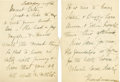 "Autographs:U.S. Presidents, Sara D. Roosevelt: Autograph Letter Signed ""Grandmama"" toGranddaughter-in-Law Betsey.. -Saturday night [circa 1..."