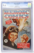 Golden Age (1938-1955):War, Heroic Comics #17 File Copy (Eastern Color, 1943) CGC NM+ 9.6Off-white pages....