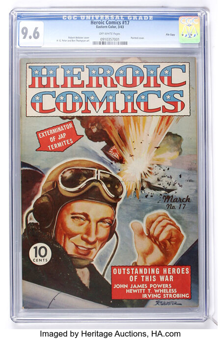 Heroic Comics #17 File Copy (Eastern Color, 1943) CGC NM+ 9.6 Off-white pages....