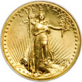 High Relief Double Eagles, 1907 $20 High Relief, Wire Rim MS64 NGC. CAC....