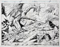 Original Comic Art:Splash Pages, Paul Ryan and Bob Wiacek Iron Man #272 Splash Pages 10 and11 Original Art (Marvel, 1991)....