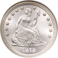 Seated Quarters, 1878-CC 25C MS67 NGC....
