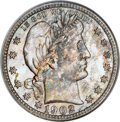 Barber Quarters, 1902-S 25C MS67 NGC. CAC....