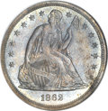 Proof Seated Dollars, 1862 $1 PR65 NGC....