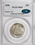 Seated Quarters, 1878 25C MS64 PCGS. CAC....