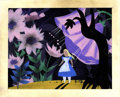 Animation Art:Production Drawing, Mary Blair Alice in Wonderland Animation Concept Painting Original Art (Disney, 1951)....