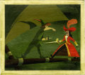 Animation Art:Production Drawing, Mary Blair Peter Pan Animation Concept Painting Original Art(Disney, 1953)....