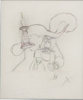 Animation Art:Production Drawing, Peter Pan Captain Hook Animation Production Drawing Original Art (Disney, 1953)....
