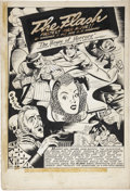 Original Comic Art:Panel Pages, Harry Tschida All-Flash #7 Flash Splash Page 1 Original Art (DC, 1942)....