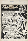Original Comic Art:Splash Pages, Harry Tschida All-Flash #7 Flash Splash Page 35 Original Art(DC, 1942)....